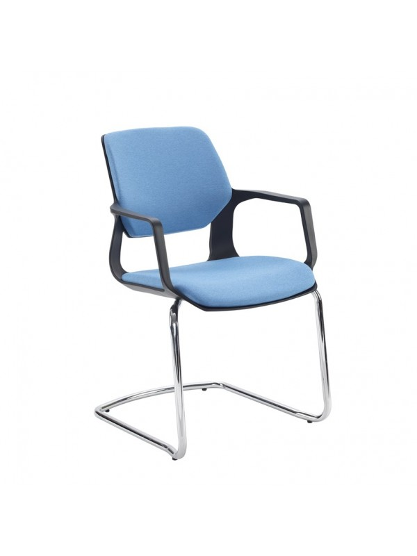 Lennon fabric conference chair with chrome cantilever frame