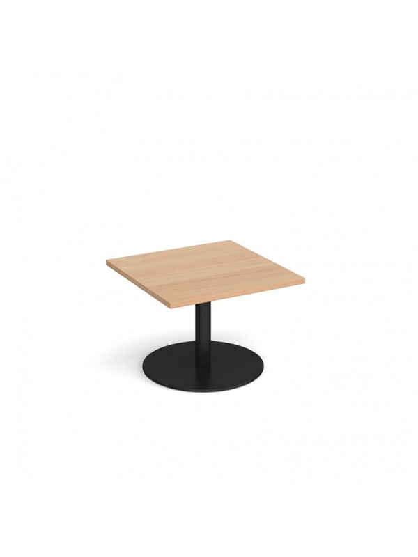 DAMS Monza square coffee table with flat round