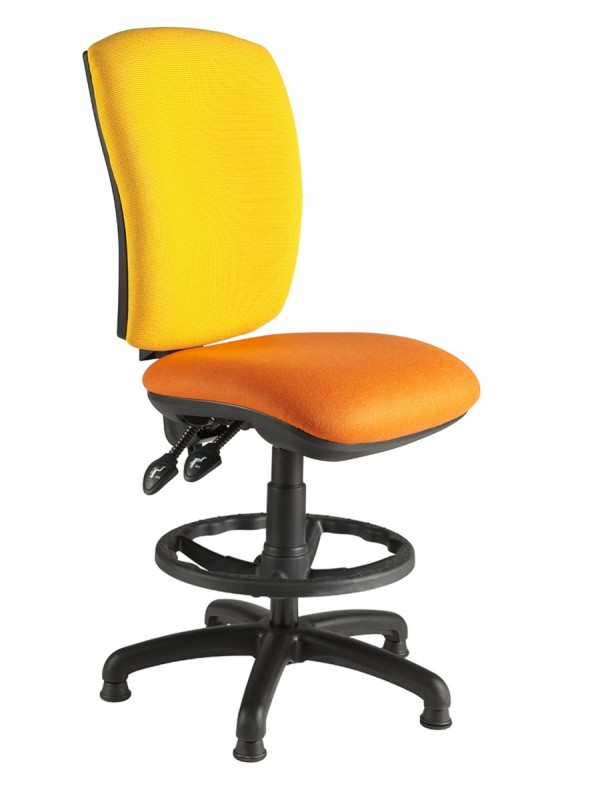 Alliance SIMPD Squared Back Draughtsman Chair (Twin Lever on Glides)