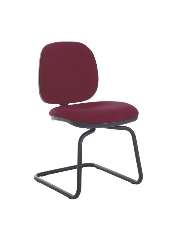 Vantage Plus fabric visitors chair with no arms