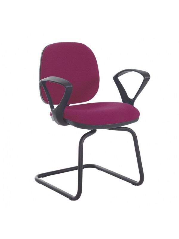 Vantage Plus fabric visitors chair with fixed arms