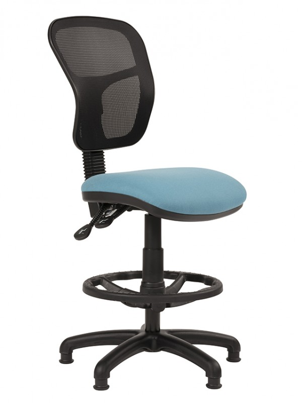 Alliance HIMP/Mesh Mesh Back Draughtsman Chair (Twin Lever on Glides)