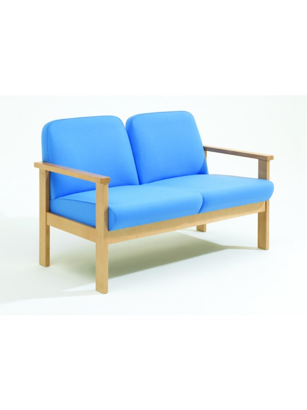 Alliance 7000 Beech Frame Low Back Two Seater Settee