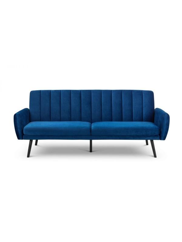 Julian Bowen Afina Sofa Bed in Blue Velvet