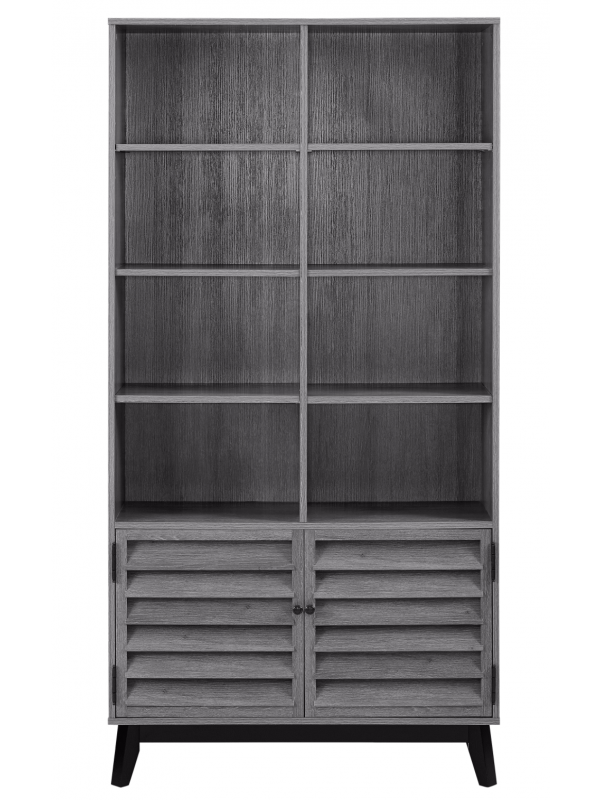 Dorel Vaughn Bookcase in Grey Oak