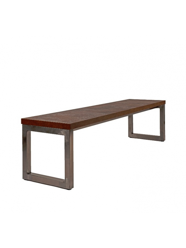 Orn Axiom Rustic Industrial Style Canteen Bench Seat