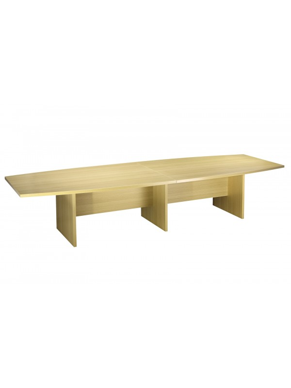 oi Boat Shaped Boardroom Table 3600mm Long