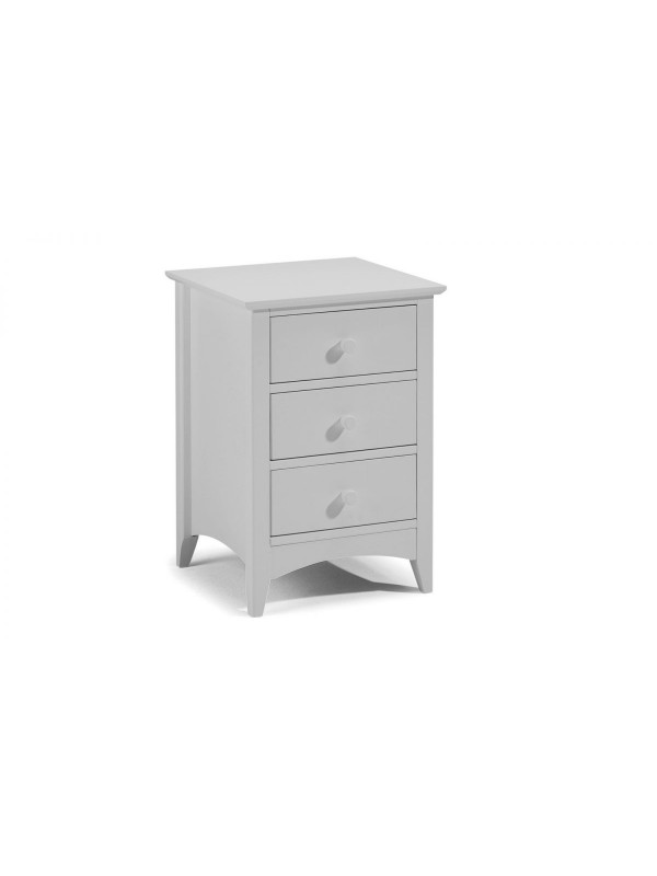 Julian bowen Cameo 3 Drawer Bedside - Dove Grey