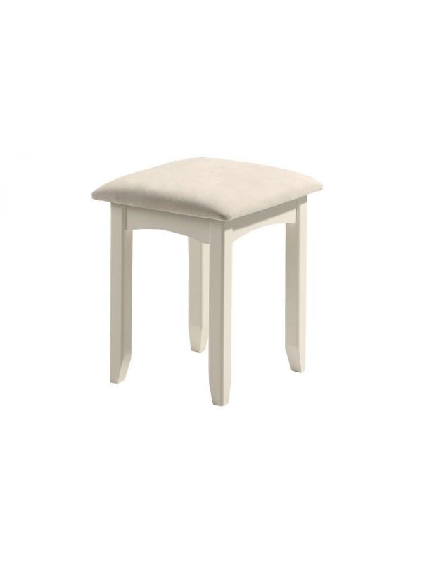 julian bowen Cameo Dressing Stool - Stone White