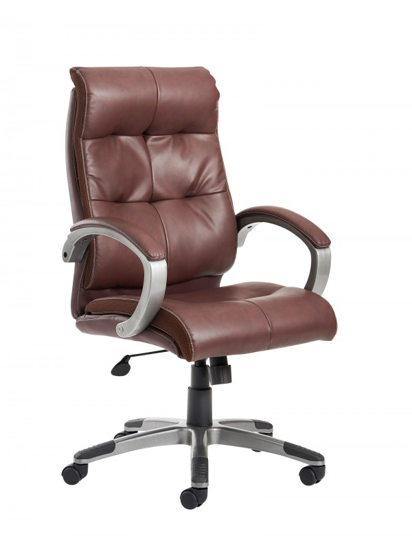 catania brown leather executive chair