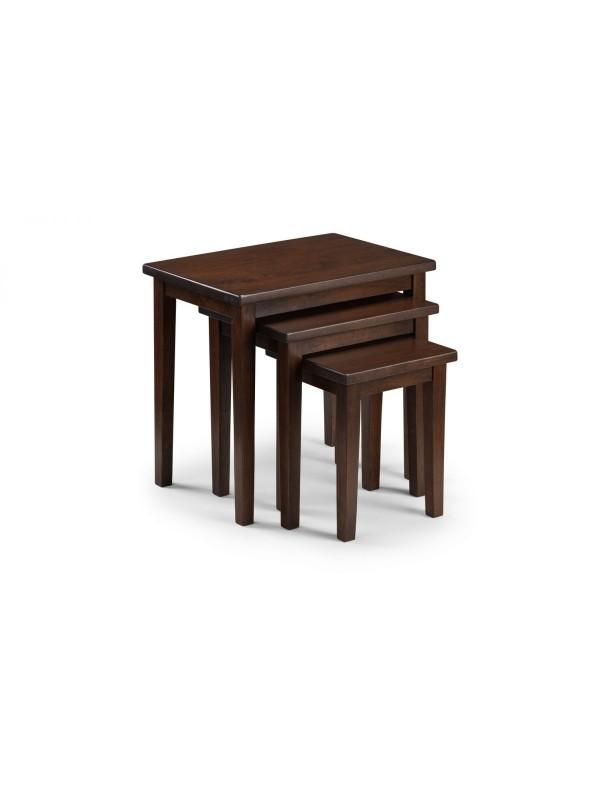 julian bowen Cleo nest of tables - Mahogany