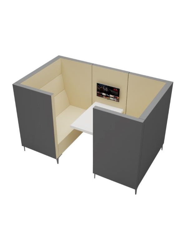 Orn Converse high back 4 person meeting booth with table