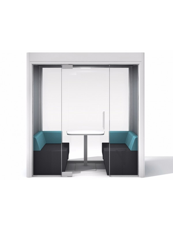 Frem Oasis Linear Team 4 person Private meeting Booth with Optional Extras