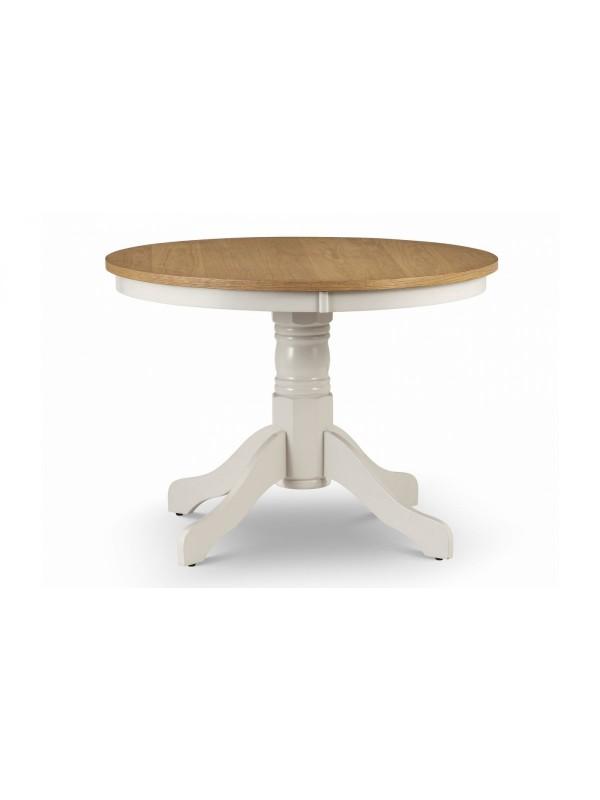 Julian Bowen Davenport round pedestal table
