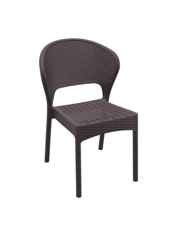 ZAP Daytona Rattan Side Chair - Brown