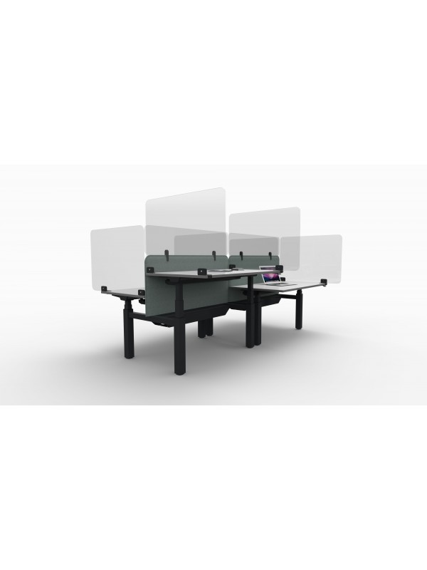 Solo Clear Acrylic Desk Mounted Screen for extra Office Protection against Covid 19