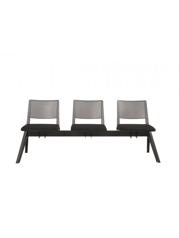 Alliance Pinnacle Upholstered Seat and Plastic Back Bench System