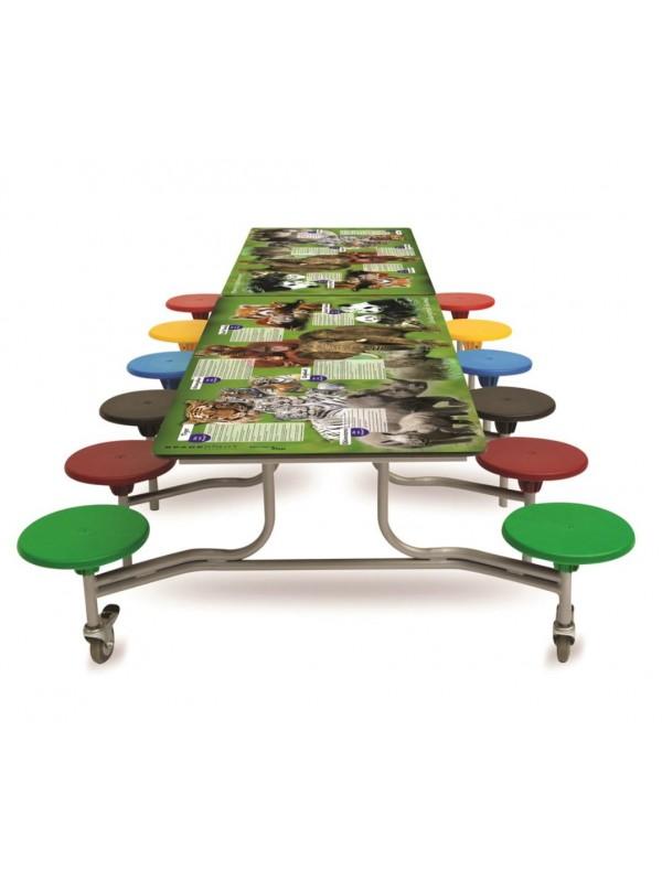 Spaceright Rectangular Endangered Animals Folding Table