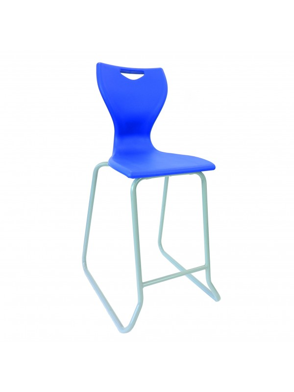 EN80/81 Skid Base Stool - light grey frame