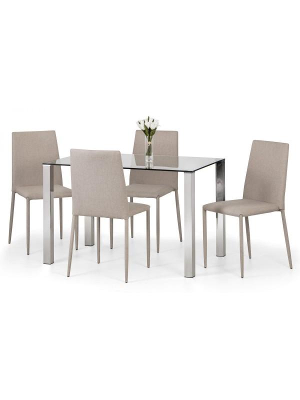 Julian Bowen Enzo & Jazz Dining Set (Grey or Sand)