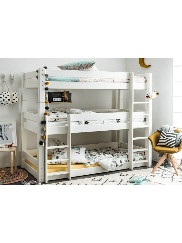 Flair Scandinavia Wooden Triple Bunk Bed in White