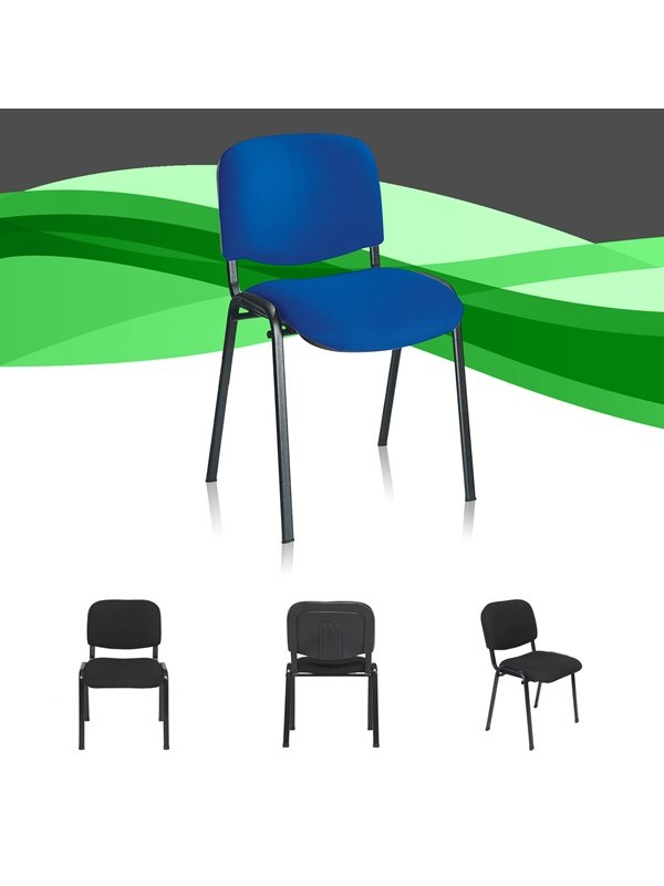 Bulk Deal 50 / 100 / 200 Fabric Stacking Meeting / Visitor Chairs 2 Colours