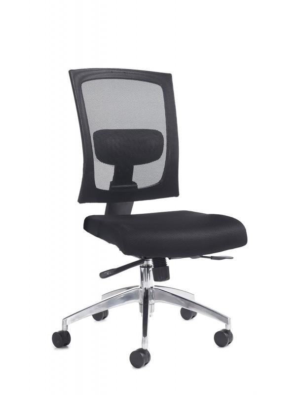 Dams Gemini 300 series mesh task chair with no arms - black