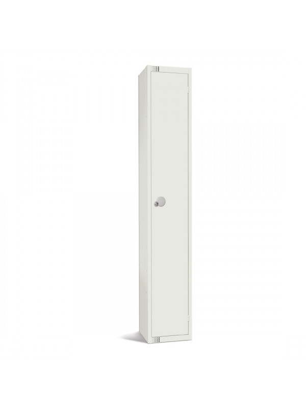 All White Metal 1 Door Personal Storage Locker