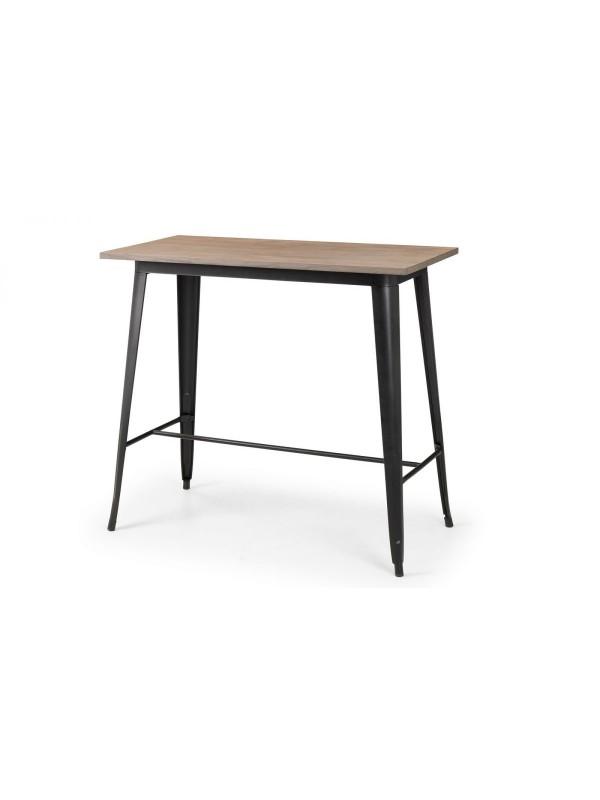 julian bowen Grafton Bar Table mocha elm