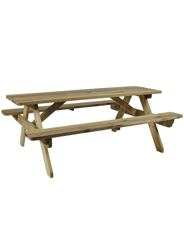 ZAP Hereford Picnic Table 6 Seat
