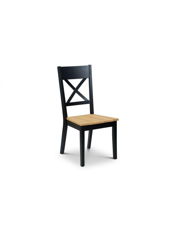 julian bowen Hockley Dining Chair black/light oak