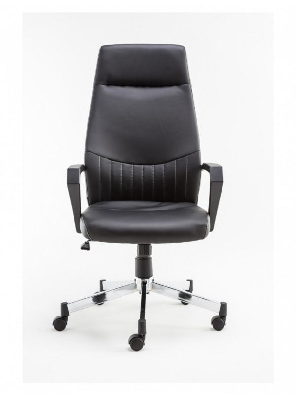 Alphason Brooklyn High Back Executive Chair in Black Faux Leather