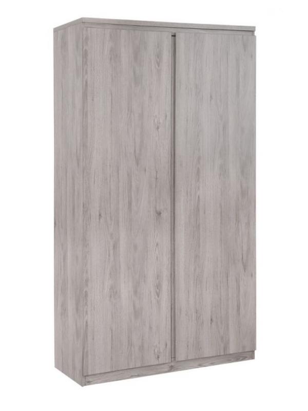 julian bowen Jupiter 2 Door Wardrobe - Grey Oak