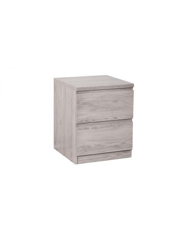 julian bowen Jupiter 2 Drawer Bedside - Grey Oak