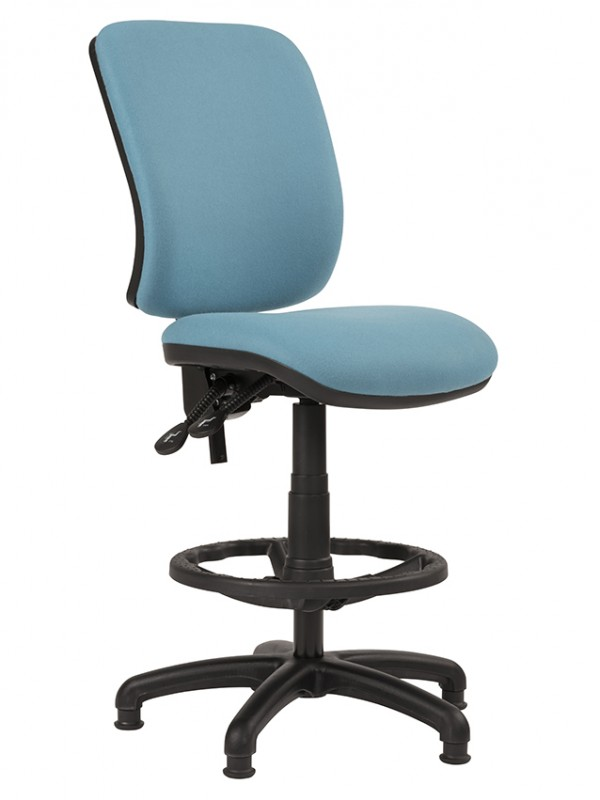 Alliance TIMP Squared Back Draughtsman Chair (Twin Lever on Glides)