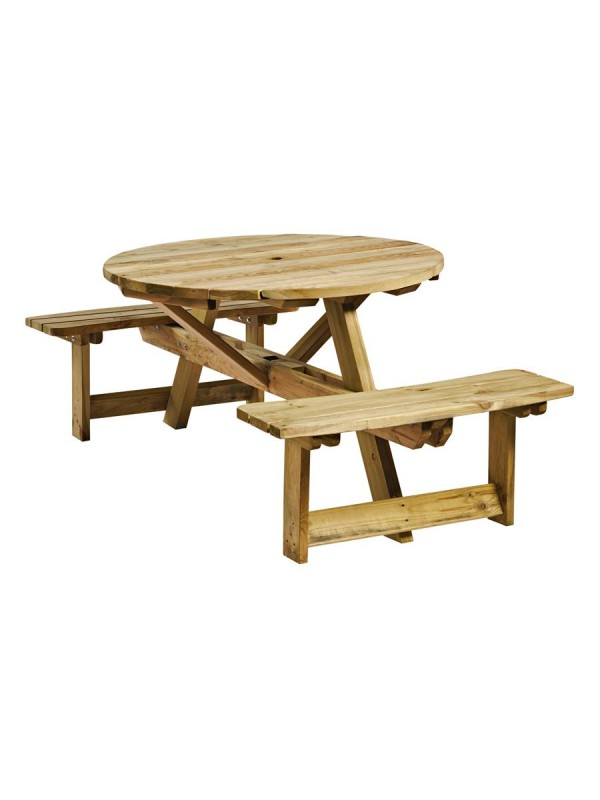 ZAP King Round 4 Seater Picnic Table
