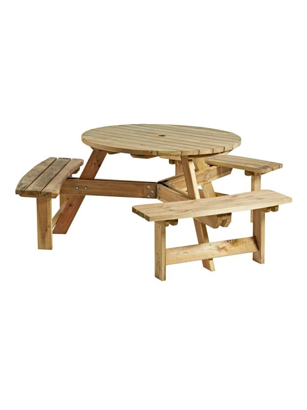 ZAP King Round 6 Seater Picnic Table