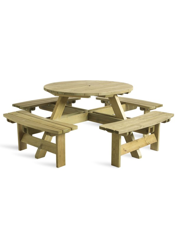 ZAP King Round 8 Seater Picnic Table