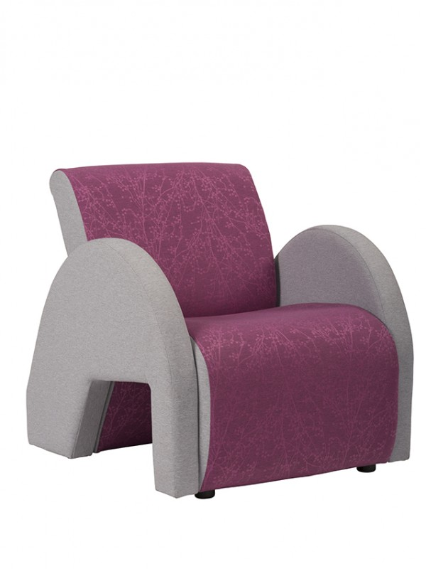 Alliance 4000 Curved Armchair (Black Glides as standard)