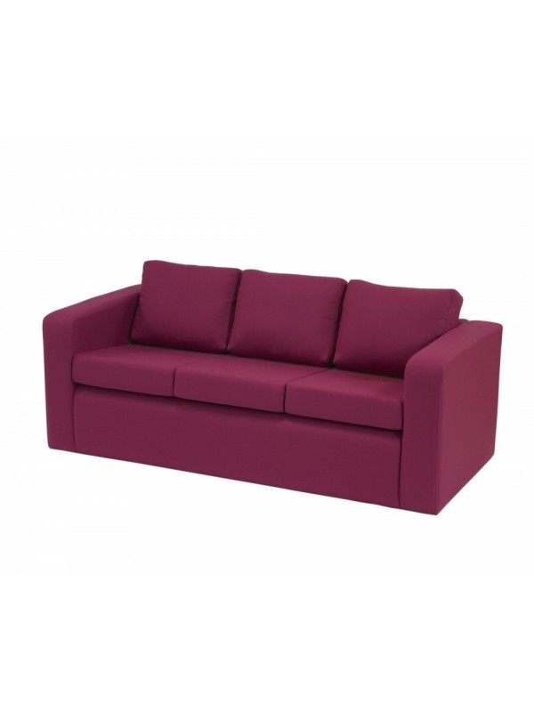 Alliance Phoenix 3 Seater Settee with Arms (Chrome Glides as Standard)