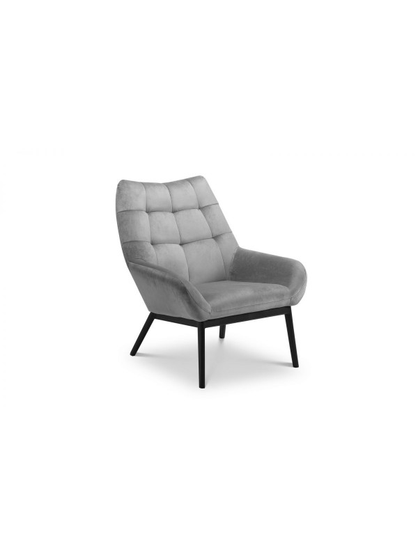 julian bowen Lucerne Grey Velvet Chair