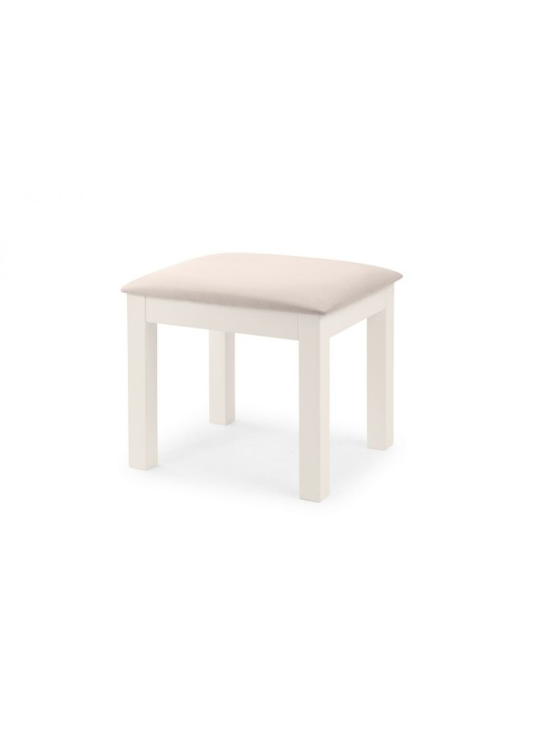 Julian Bowen Maine Dressing Stool - Surf White