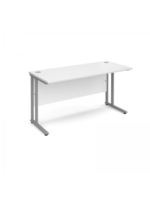 Maestro 25 Cantilever Leg Straight Desk 800mm Deep