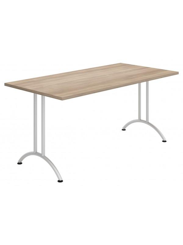 Elite Folding Rectangular Table With Radius Legs