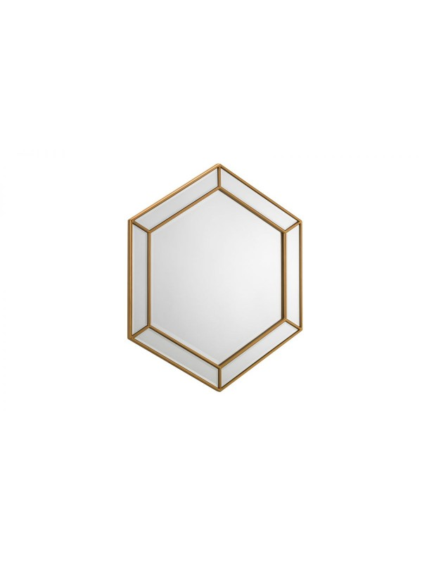 julian bowen Melody Hexagonal Mirror gold