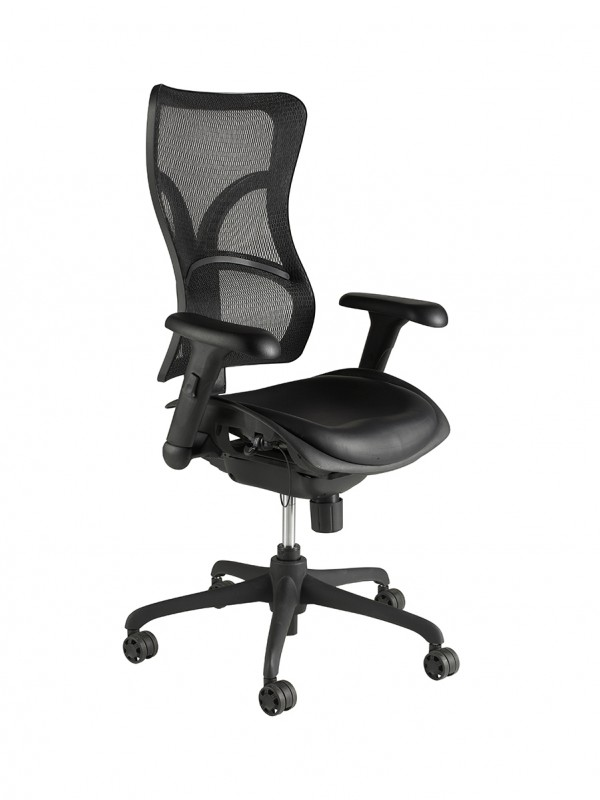 Alliance Monroe High Back Shaped Mesh Chair with arms