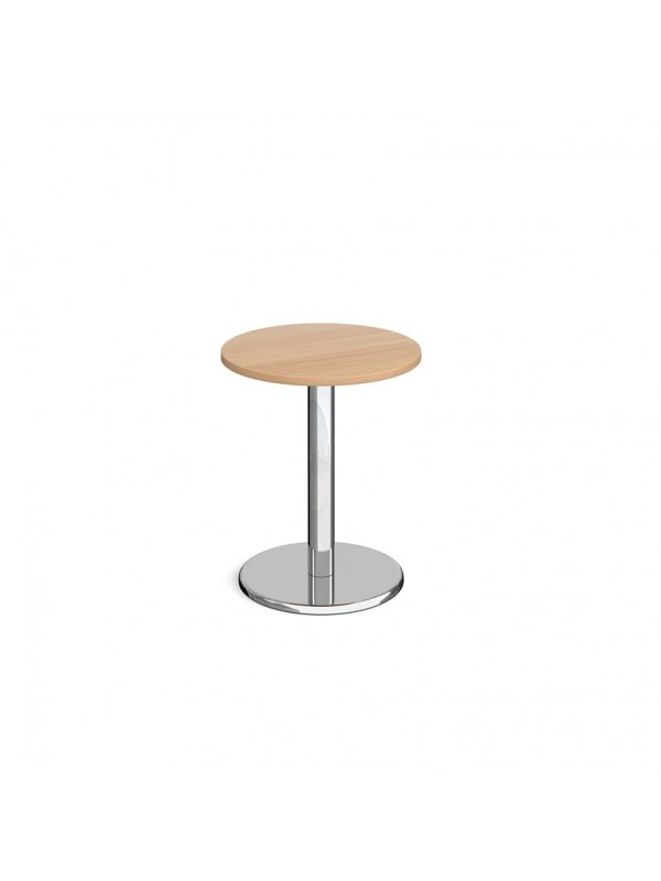 Pisa circular dining table with round chrome base
