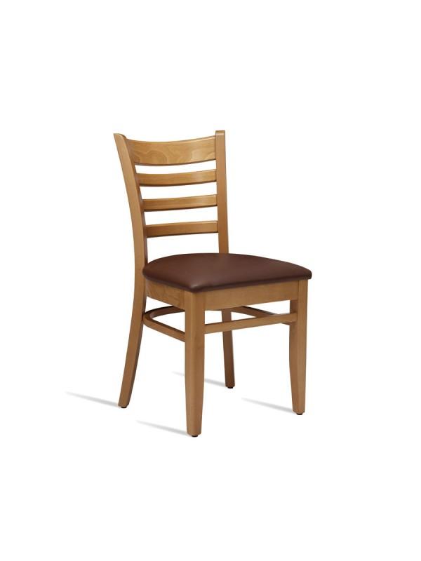 zap Plus Light Oak & Brown PU Side Chair