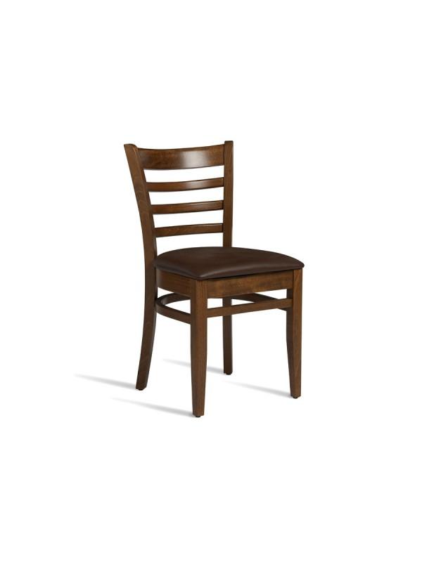 zap Plus Medium Walnut & Brown PU Side Chair