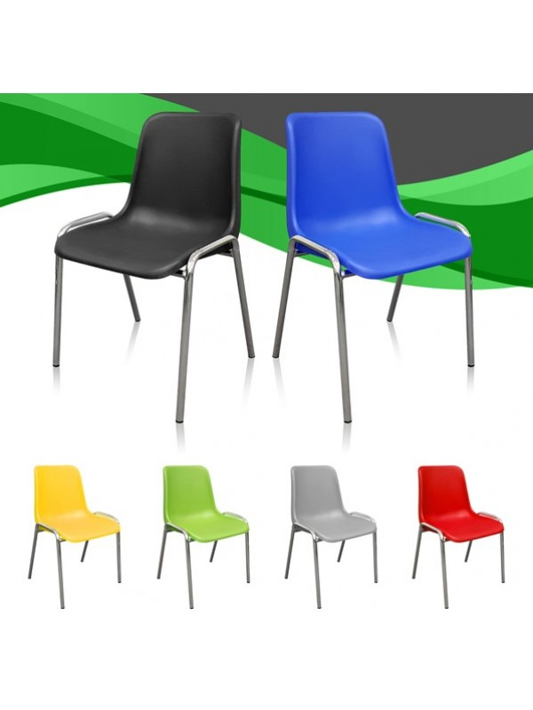 Bulk Deal 50 / 100 / 200 Poly Stacking Chairs in a choice of colour